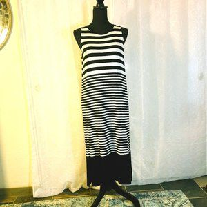 Black & white stripe, jersey knit dress by LOFT